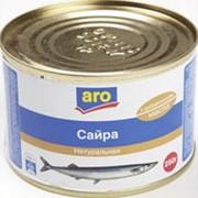 Сайра натуральная ARO с добавлением масла, 250г фото