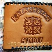 Казахские кожаные сувениры. Ремесла Казахстана. фото