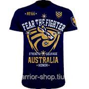 Футболка Fear the Fighter World Blood Line Australia. фото