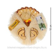 Домовик магнит в соломенной шляпе мал. DO-022 фото