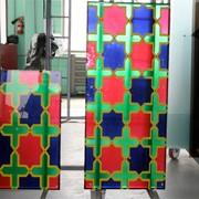 Стеклопакет с витражным стеклом, выполненные в марокканском стиле фото