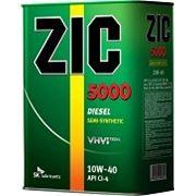 Масло моторное ZIC 5000 Diesel 10w40 CI-4 6 литров фото