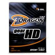 Трансмиссионное масло DRAGON HD 85W140 GL-5 4л фото