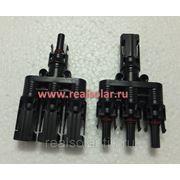 Коннекторы MC4 Т-3 пара (male + female) фото
