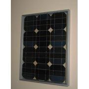 Модуль солнечный каркасный 24Вт МСК-24(12) монокристаллический фото
