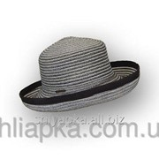 Шляпа летняя черно-белая 36/33-5 фото
