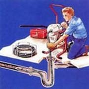 Промывка канализации под давлением воды фото