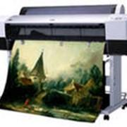 Печать широкоформатная на холсте фото