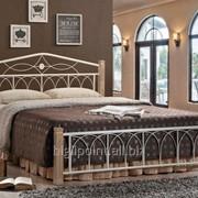 Кровать Миранда М двуспальная крем (160х200) фото