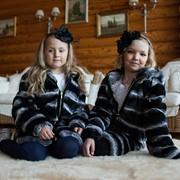 Пальто детское из меха кролика рекса фото