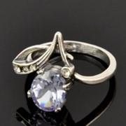 Кольцо с хрусталем, Цветок фото