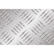 Алюминиевый лист рифленый от 1,2 до 4мм, резка в размер. Гладкий лист от 0,5 мм. Доставка по всей области. Арт-24 фото