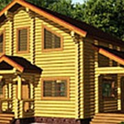 Дом из оцилиндрованного бревна - ВОРСМА фото