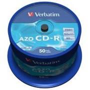 Диск CD-R Verbatim 700Mb 52x Cake box 50 Crystal (43343) фото