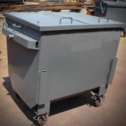 Евроконтейнер металлический 1100 л. мусорный с крышкой фото
