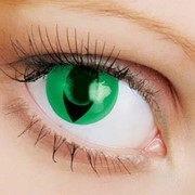 Линзы Crazy OkVision OKVision Crazy Green cat eye фото