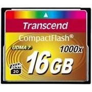 Карта памяти Transcend 16Gb Compact Flash 1000x (TS16GCF1000) фото