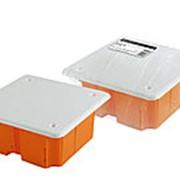 Распаячная коробка СП 92х92х40мм, крышка, IP20, инд. штрихкод, TDM фото