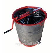 Медогонка 4-х рамочная нержавеющая сталь, поворотная, кассеты н/ж, ротор н/ж фото