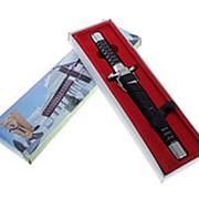 Сувенирный кортик, 28 см, рукоять и ножны с рёбрами фото