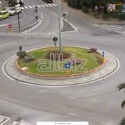 Разметка дорог и площадей фото