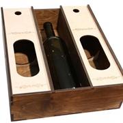 Ящик для 3-х бутылок с окном фото