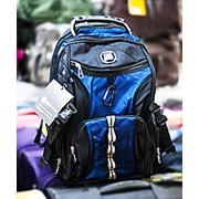 Рюкзак SWISSGEAR черный с синими вставками фото