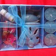 Набор с аромалампой, свечами, маслами и палочками фото