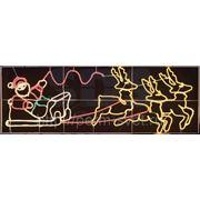 "Фигура SL-048 ""Олени везут Санта Клауса на санях"" фото"