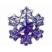 Фигура Снежинка №2 фольг синяя 90см фото