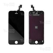 Матрица и тачскрин (сенсорное стекло) в сборе для смартфона Apple iPhone 5S, чёрный цвет фото