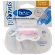 Соска-пустышка Dr. Brown's ортодонтическая PreVent 6-18 мес розовая 192-P фото
