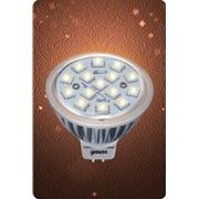 Скидка - 6%. Лампа MR16 GU5.3 АС/DC 12V 4W 2700/4100К FROST фото