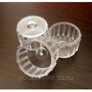 Колпачки поликарбонатные прозрачные 25 мм фото