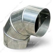 Отвод угловой Оцинковка d 110*90 (толщина металла 0, 55 мм.) №249217 фото