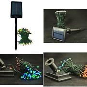 Гирлянда на солнечных батареях( красная) 12м/100 диодов фото