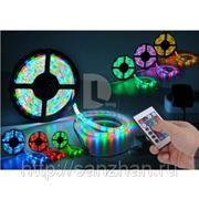 Многоцветная светодиодная лента в силиконе RGB SMD 5050 LED 30 12V (5 метров\катушка) фото