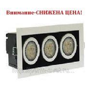 Светодиодный карданный светильник DLS-003/3 232х98х120 517Лм 11.8W Алюминиевый сплав Черный и серебро фото