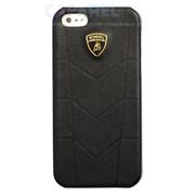 Чехлы Lamborghini Aventador D1 Real Leather Protect Case Black для iPhone 5/5s фото