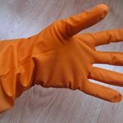 Перчатки латексные хозяйственные ЛОТОС фото