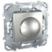 Диммер поворотно-нажимной (алюминий) 2х проводное подключение фото
