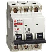 Автоматический выключатель ВА 47-63, 3P 4,5kA (С) 6,10,16,20,25,32,40А EKF фото