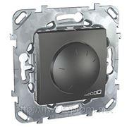 Диммер для ламп накаливания и галогеновых ламп 230В, 40-1000 Вт. 3х проводное подключение (графит) фото