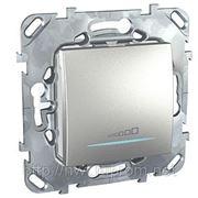 Диммер нажимной универсальный 230В, 20-350 Вт, 2х проводное подключение (алюминий) фото