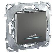Диммер нажимной универсальный 230В, 20-350 Вт, 2х проводное подключение (графит) фото