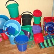 Изделия из пластмасс: ведро и крышки 5л , 7л, 10л, тазы, вантузы, вешалки, фото