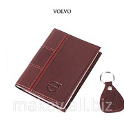 Обложка для водительского удостоверения с брелком VOLVO, 065-07-11К фото