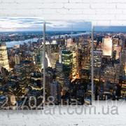 Модульна картина на полотні Нью-Йорк. Вечір код КМ100160-074 фото
