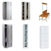 Одежные металлические шкафы, скамейки, шкафы хозяйственные металлические, шкафы одежные для раздевалок, скамейки, лавочки для раздевалок фото