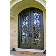 Кованая входная дверь фото